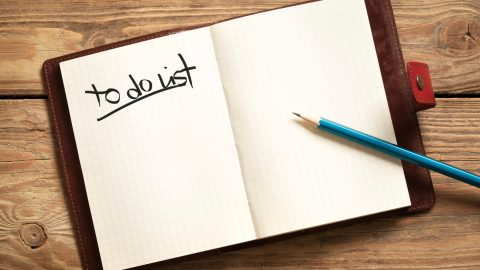 A to do list sits unfulfilled as its owner tries to stop wasting time and get things done.