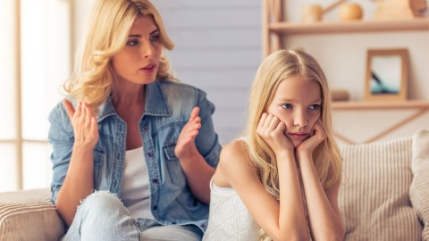 A mother employs mindful parenting strategies to deal with her disobedient child.