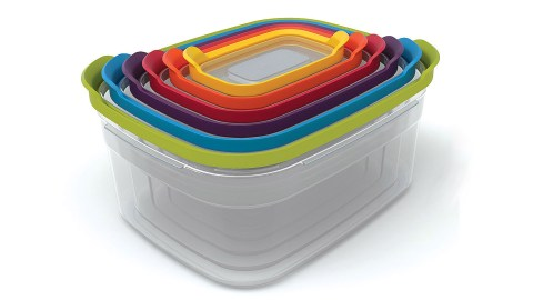 Nesting storage containers, a gift that can solve the ADHD problem of disorganized cabinets