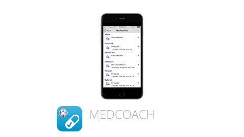 This image shows the ADHD app MedCoach, which is great for time management