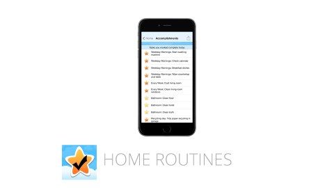 This image shows the ADHD app HomeRoutines, which is great for time management