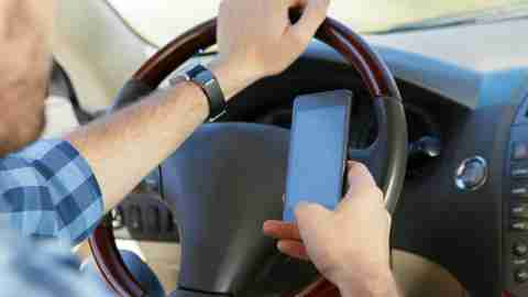 Being easily distracted, such as texting while driving, is possibly a symptom of adhd.