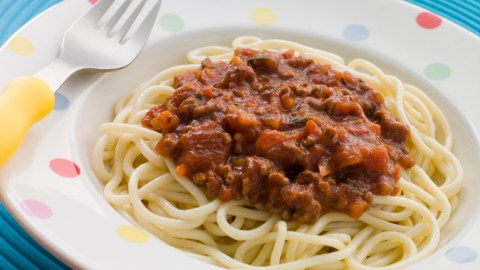 Spaghetti Bolognaise is a perfect non-traditional breakfast children with ADHD will love