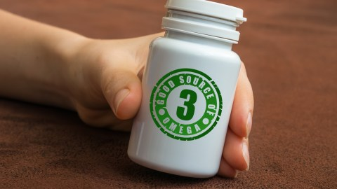 A jar of omega-3 supplements, part of a healthy ADHD diet for kids.