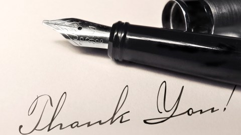 """A note from a parent saying """"thank you"""" to a teacher for working together"""