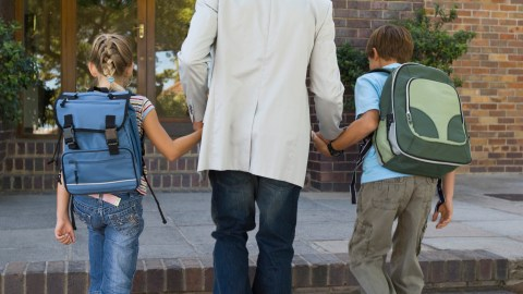 Two children with ADHD get to school on time as part of their daily routine.