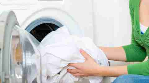 Doing laundry during the holidays to promote stress relief