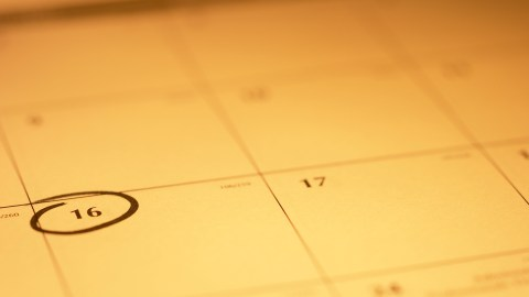 A calendar can help people with ADHD get things done