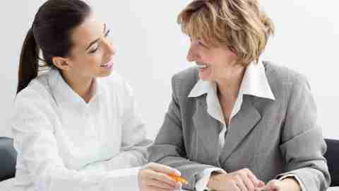 """A woman meets with her supervisor, and wonders, """"Should I tell my boss I have ADD?"""""""