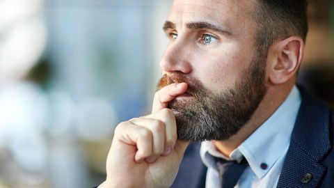 Man with ADHD struggles with negative thinking and all-or-nothing thoughts.