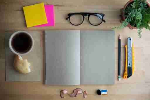 A neat desk shows that someone has retrieved everything they need for productivity success before getting started.