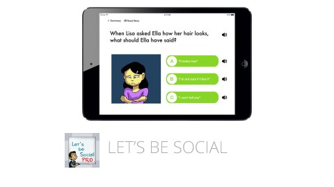 Let's Be Social is a great app that builds social skills for children with ADHD