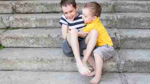 ADHD Children playing with each other and avoiding meltdowns.