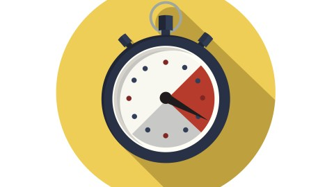 An illustration of a stopwatch, which adults with ADHD can use to break hyperfocus
