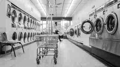 Laundromat on washday