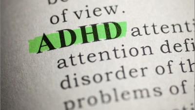 ADHD highlighted in dictionary