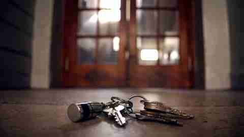 Lost keys on house of floor a sign of ADHD.