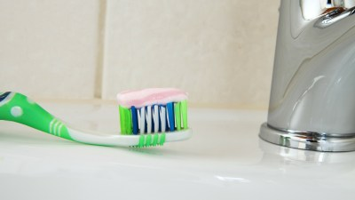 A toothbrush used by a highly sensitive child
