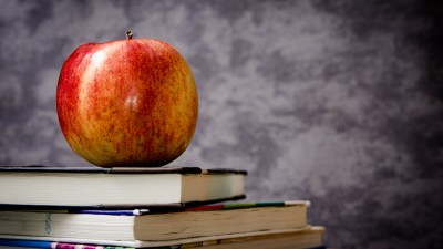 Being prepared, with an apple and textbooks, helps with student confidence