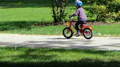 Improve your child's self image like this child riding a bike