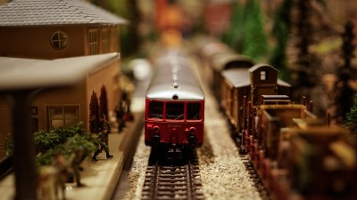 Holiday safety tips and spotting potential hazards, like a model trainset
