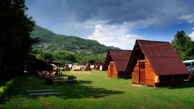 Campsite in mountains, a summer retreat for kids with ADHD