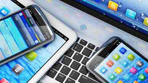 Various electronic gadgets used to manage ADHD symptoms with mobile apps