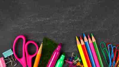 School supplies used for these school organization tips
