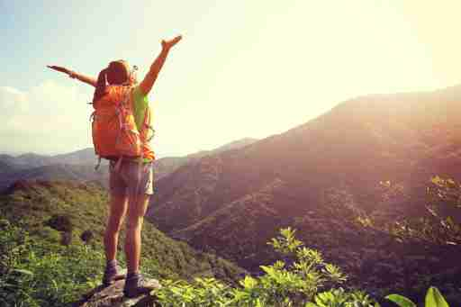 A teen with ADHD hiking in the wilderness as an alternative to college