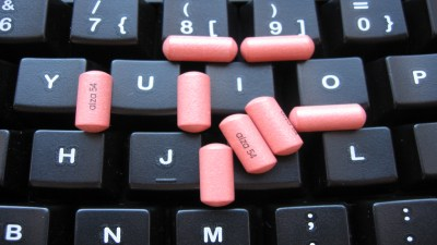ADHD medication Concerta on keyboard