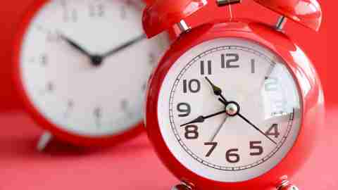 Adults with ADHD can set two alarms to help get themselves out the door on time
