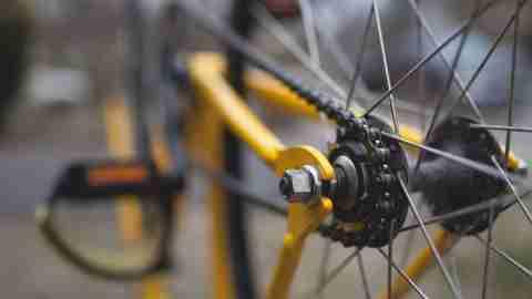 Close up of a bike