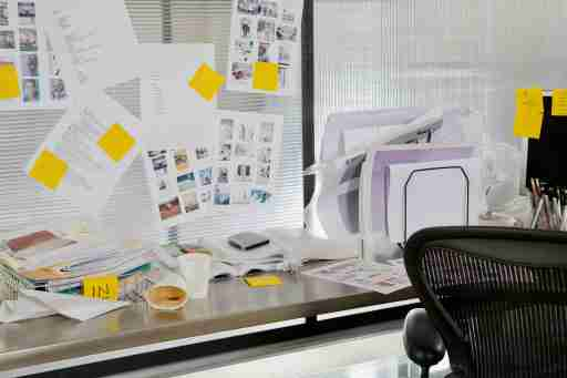 All papers are labeled with a sticky note of what needs to be done with them to keep overwhelm away.