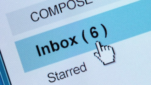 An inbox with six new messages can lead to wasting time for adults with ADHD