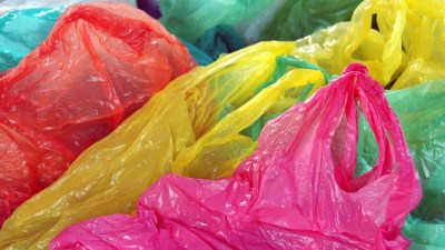 If you save every grocery bag you ever get — paper or plastic — gather them up and take them back to the store for recycling. If you use them for trash bags or recycling, keep only a couple — you'll get more from the store by the time you need them, and you'll clear up some space under your sink in the meantime.