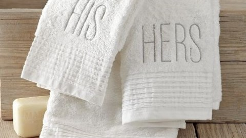 His and hers divisions, like towels, can help avoid conflict in an ADHD marriage.