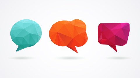 Three speech bubbles, representing the questions people often have about the side effects of ADHD medications