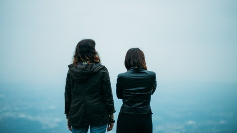 "Two women stand and look into the distance while one confides, ""I think I have ADHD."""