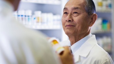 "A man asks a pharmacist, ""How does ADHD medication work?"""