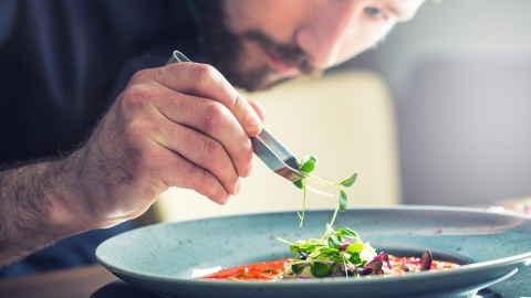 Chef with ADHD prepares meal