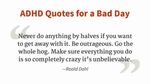"""""""Never do anything by halves."""" - Roald Dahl"""