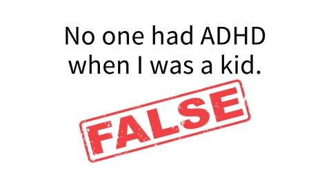 ADHD is not a new diagnosis