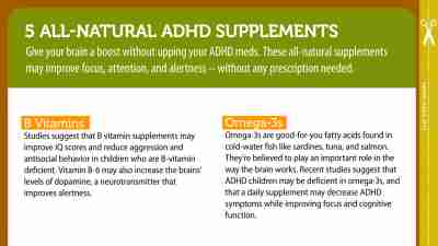Give your brain a boost with all-natural supplements for ADHD