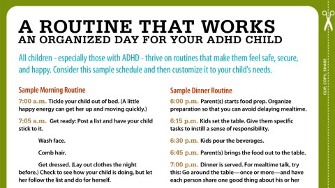Routines For Kids With Adhd Your Sample Schedule