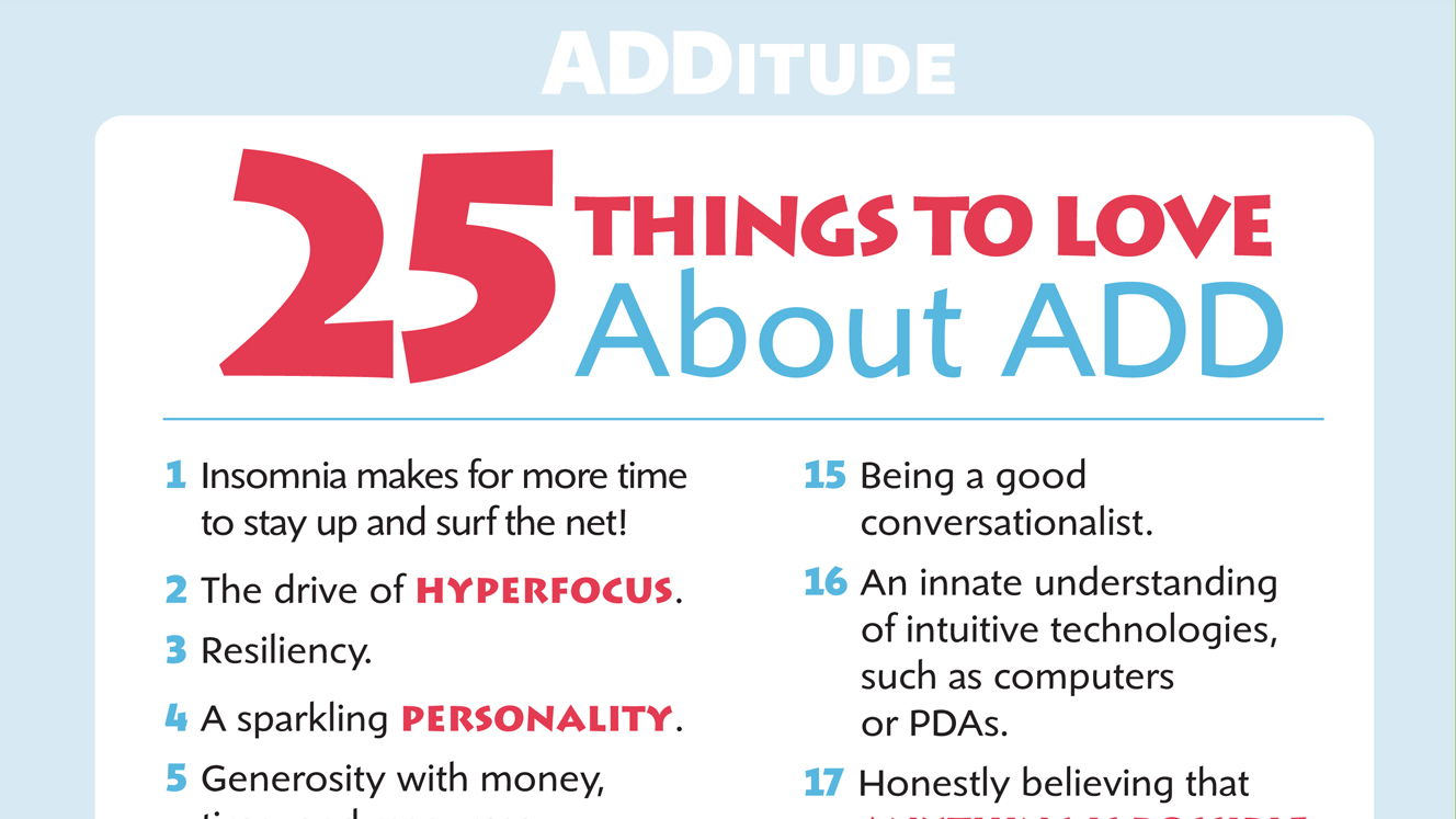 Benefits of ADHD: Love Your Strengths and Abilities