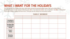 Holiday prioritizing chart for adults with ADHD