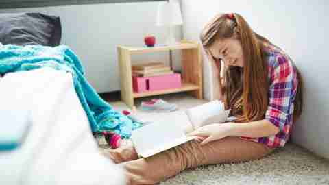 A girl frustrated by homework grows up to learn strategies for coping with adult ADHD