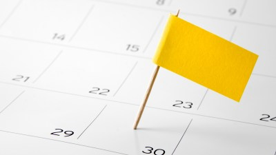 Flag the event day or deadline on calendar is good for ADHDers to get organized