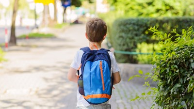 ADHD boy goes to school