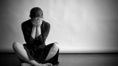 ADHD Depressed woman in monochrome